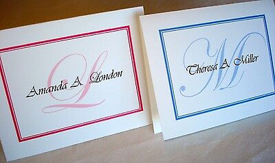 40 Personalized Custom Note Cards & Envelopes Stationery, Blank Inside Thank You