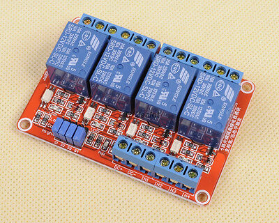 For Arduino  4-Channel Relay Module with Optocoupler H/L Level Triger 12V