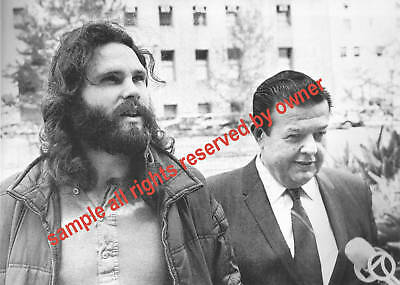 The Doors Jim Morrison Outside Courthouse Miami 1970