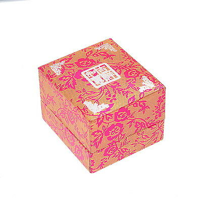 1PC New Red Rose Pattern Ring Jewelry Gift Box 5cm x4.5cm x3.7cm