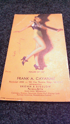 VINTAGE EARL MORAN FOLLIES OF 1937 PIN UP ADVERTISING FOX THEATRE DETROIT