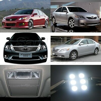 12x White Interior LED Lights Kit Combo for 2007-2011 Toyota Camry with sunroof
