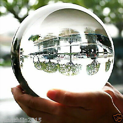 100MM + STAND HUGE ASIAN QUARTZ CLEAR CRYSTAL BALL SPHERE HOT %