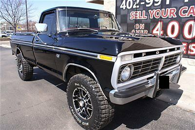 Ford : F-250 Ranger 1974 ford f 250 4 x 4 regular cab long bed ranger hi boy high boy restored clean