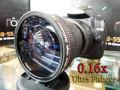 New Super Ultra Wide Angle Macro Fisheye Lens For Canon EOS Digital Rebel Camera