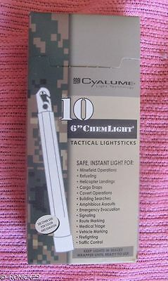 10-Orange Cyalume Chemlight Light Sicks, MIL-SPEC, 12-Hrs, Exp:06-15 (1006)