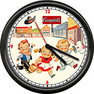 Campbell's Soup Kids Western Theme Cowboy Cowgirl Diner Kitchen Wall Clock