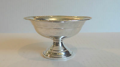 Vintage Sterling Silver Pedestal Compote / Candy Dish, Gadroon Edge