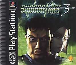 Syphon Filter 3 game and case (Sony PlayStation 1/PS1, 2001)