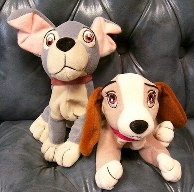 Lady and the Tramp plush Disney beanies lot of 2