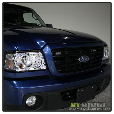 01-11 FORD RANGER DUAL HALO PROJECTOR LED HEADLIGHTS w/BUILT IN CORNER LIGHTS