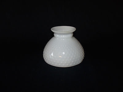 White Hobnail Milk Glass VINTAGE GWTW Parlor Banquet Style Hurricane Lamp SHADE