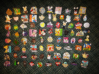 DISNEY PIN LOT OF 50 REAL PIN HIDDEN MICKEY CAST CHASER COMPLETER 2014 PIN SET