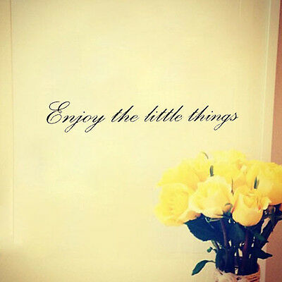 ENJOY THE LITTLE THINGS Vinyl Letter quotes wall sticker home art decor decal