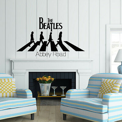The Beatles Abbey Road  Vinyl Decal Wall quote Inspiration Window Stickers