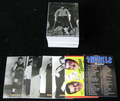 1996 DuoCards Abbott & Costello Trading Card Set (72) NM/MT