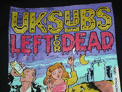 The UK Subs Left For Dead 2XL New 1999 Official Punk T Shirt Alive In Holland