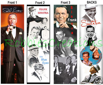 3 lot-FRANK SINATRA BOOKMARKS Dean Martin Sammy Davis Jr Book Mark pack rat card