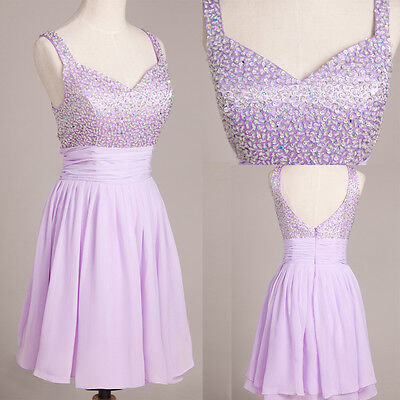 FREE SHIP Short Formal Evening Prom Ball Homecoming Dance Party Bridesmaid Dress