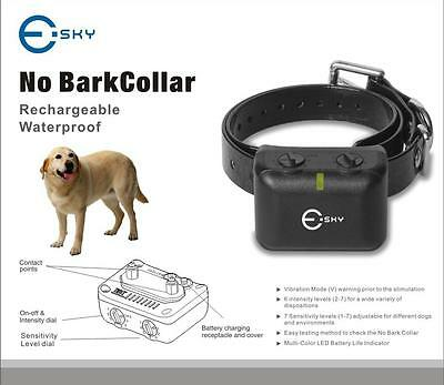 NEW Auto Static Shock Anti No Bark Control Collar for Training Dog Stop Barking