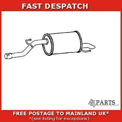 Gm562B 822 Klarius End Silencer For Opel Corsa 1.2 2006-2008