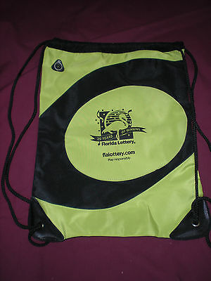FLORIDA LOTTERY CUSTOM BAG 20 YEARS MINT NEVER USED AUTHENTIC LOTTO BEACH