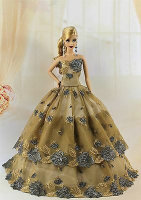 Fashion Princess Party Dress/Evening Clothes/Gown For Barbie Doll S200P7