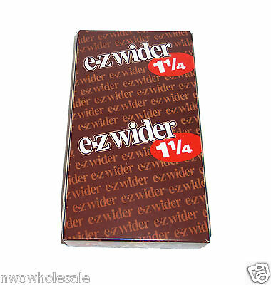 EZ-WIDER 1 1/4 Rolling Papers 24 Booklet packs Brand New Sealed