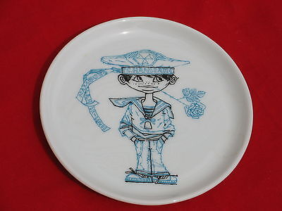 Vintage TS Hanseatic Plate Sailor Nautical Germany 4 inch Dish Tray