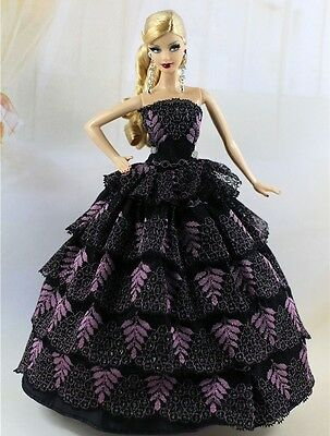 Fashion Party Dress/Wedding Clothes/Gown For Barbie Doll S182P8