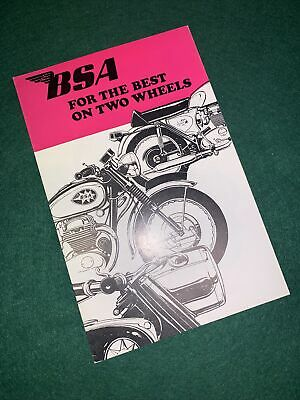 BSA Whole UK Range Sales Brochure 1968 NOS