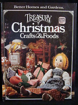 Better Homes Gardens Treasury of Christmas Crafts Book holiday craft recipes