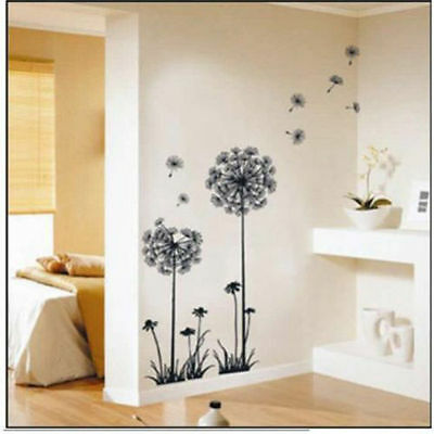Home Decor Dandelion Fly Mural Removable Decal Room Wall Sticker Vinyl DIY Art