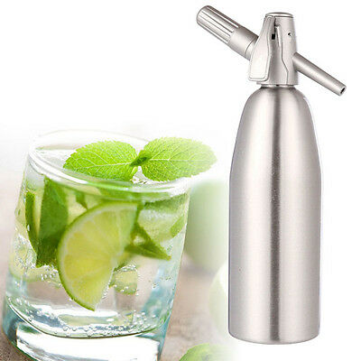 1000ML Aluminum Soda Syphon Siphon Maker Bar Home Brew Seltzer Make Tool