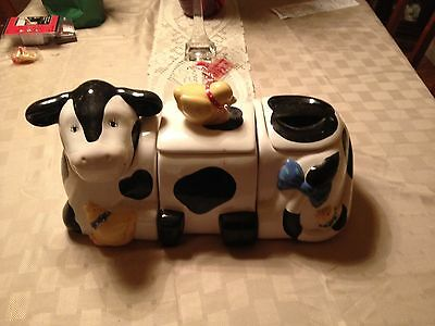 Ceramic Cow Kitchen Canisters