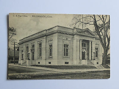 "VINTAge 1911 ""US Post Office, Willimantic, Conn."" Postcard"