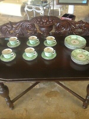 "Mottahedeh China Complete Dessert And Tea Set For 6 "" Cornelia"""