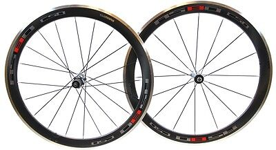 SHIMANO WH-RS80 C50 700c Road Bike Carbon Wheelset Clincher + Skewers only NEW
