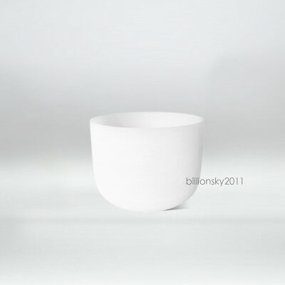 """Perfect Pitch Frosted F Heart Chakra Quartz Crystal Singing Bowl 8 """""""