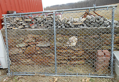 """HEAVY DUTY CHAINLINK CHAIN LINK GALVANIZED STEEL FENCE GATE APPROX. 8' X 4' 9"""""""