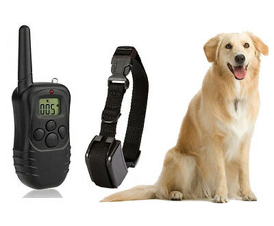 New Rechargeable LCD 100LV Level Shock Vibration Remote Pet Dog Training Collar