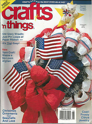 Crafts n Things July August 1991 Old Glory Wreath/Yarn Craft/Christmas Ornaments