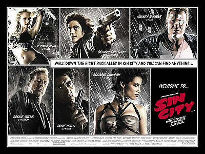 """ SIN CITY ""..Bruce Willis.. Classic Movie Poster 2.. A1A2A3A4Sizes"