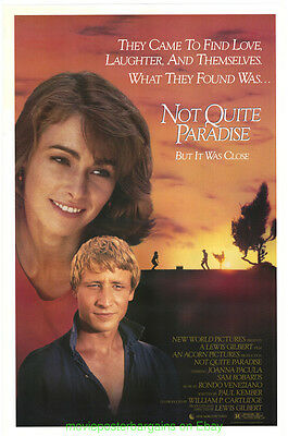 NOT QUITE PARADISE MOVIE POSTER Original SS 27x40 Rolled 1986 JOANNA PACULA