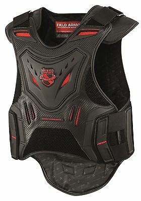 Icon Field Armor Stryker Vest Black/Red Sportbike Stunt Chest & Back Protection