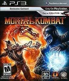 Mortal Kombat PS3 (Sony Playstation 3, 2011) play as kratos