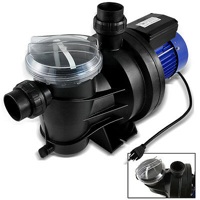 """1200W 1.5HP Swimming Pool SPA Electric Water Pump Large Strainer 23000LPH 2"""" CE"""