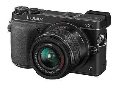PANASONIC LUMIX DMC-GX7K BLACK CAMERA w/ 14-42mm Lens Kit DMCGX7KK OPEN BOX DEMO