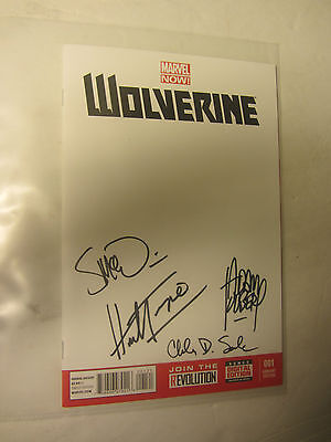 Wolverine Blank Variant signed by Trimpe McNiven Soule Kubert - Phx Comic Con