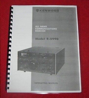 Kenwood R-599D Instruction Manual ON 28 lb PAPER!! w/Protective Covers!!